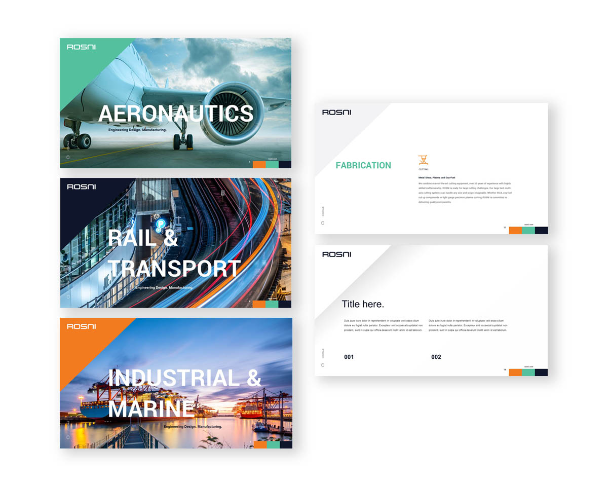 Rosni, S.L. PowerPoint Presentation template